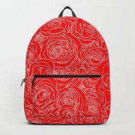Scarlet Roses Backpack