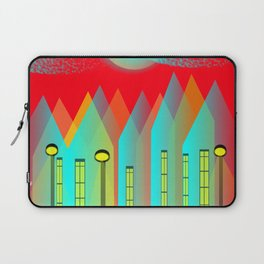 Terraced houses on red - by Matilda Lorentsson Laptop Sleeve