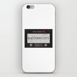 Resident Evil Welcome to Raccoon City Sign iPhone Skin