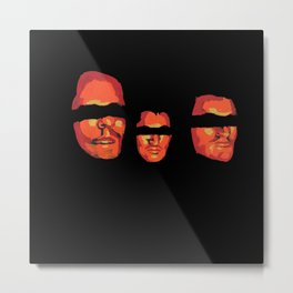 Once upon a time there was three friends Metal Print