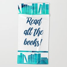 Read All the Books! Beach Towel