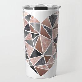 A Big Heart, Geometric Abstract Travel Mug