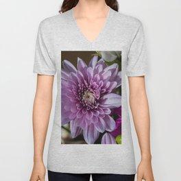 Pink Flower Unisex V-Neck