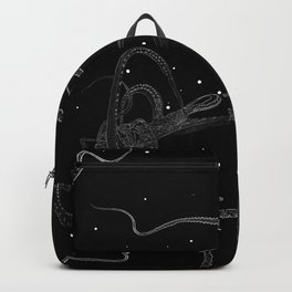 Octopus Black and White Backpack
