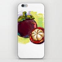 vietnam iPhone & iPod Skins featuring Vietnam Mangosteen by Vietnam T-shirt Project