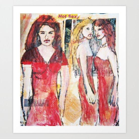 3 HOT SEXY VAMPIRE Art Print