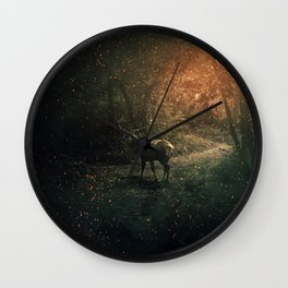 majestic forest guardian Wall Clock