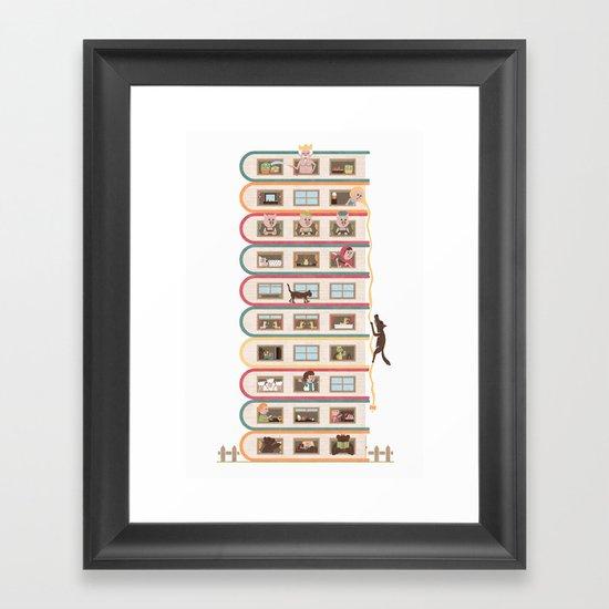 Ten Stories High Framed Art Print