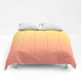 Color gradient 8. Yellow and orange.abstraction,abstract,minimalism,plain,ombré Comforters