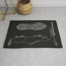 Baseball Cleat Patent - Black Rug