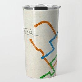 Minimal Montreal Subway Map Travel Mug