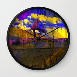 Stuntman - Stunt Scooter Sports Art Wall Clock