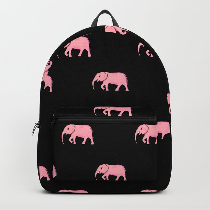 Pink elephants . Black Art prints, paradise elephants, Home decor Backpack