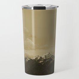 Utah Mountain in Sepia Travel Mug