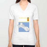 prometheus V-neck T-shirts featuring Prometheus  by Paul Elder