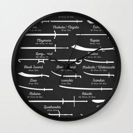 Sword Types Wall Clock