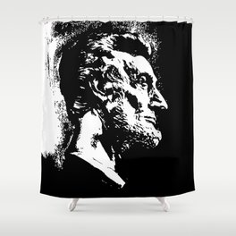 Face Lincoln Shower Curtain