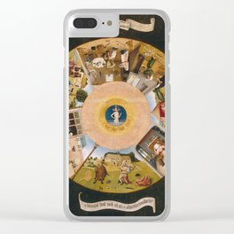 Hieronymus Bosch - The Seven Deadly Sins 1485 Clear iPhone Case