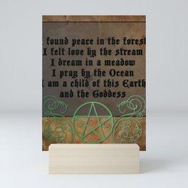 Beautiful Wiccan Poem Mini Art Print