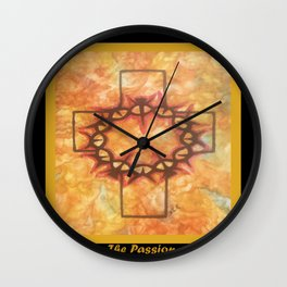 The Passion 2 By Saribelle Rodriguez Wall Clock