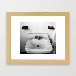 Wash Up Framed Art Print