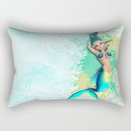 Cheeky Mermaid 4 Rectangular Pillow