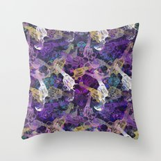 Floral Gun Throw Pillow