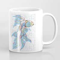 koi fish Mugs featuring Koi Fish by MadameAce