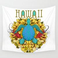 hawaii Wall Tapestries featuring Hawaii by Renee Ciufo