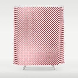 Flame Scarlet Polka Dots Shower Curtain