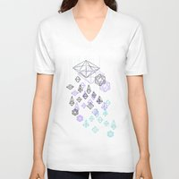 crystals V-neck T-shirts featuring crystals by Sil-la Lopez