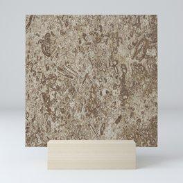 Natural Stone-Like Marble Brown Shades Mini Art Print