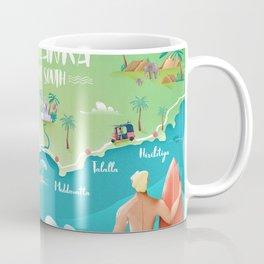 Surf Map Sri Lanka South Coffee Mug