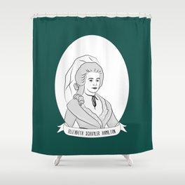 Elizabeth Schuyler Hamilton Illustrated Portrait Shower Curtain
