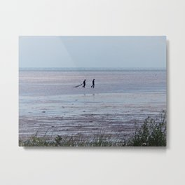 Sparkling Sea Harvesters Metal Print