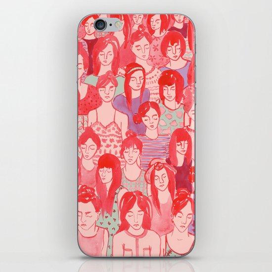 Girl Crowd iPhone & iPod Skin