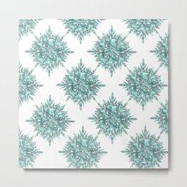 crystal clear Christmas snow Metal Print