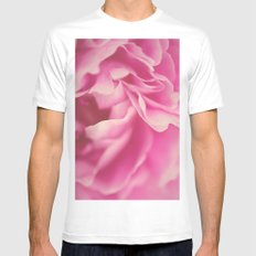 pink peony #2 MEDIUM White Mens Fitted Tee