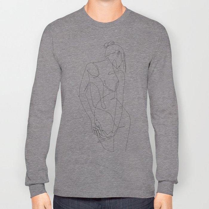 ligature - one line art Long Sleeve T-shirt