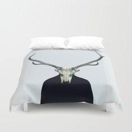 Living Skull and Horns Duvet Cover