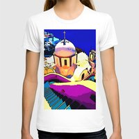 greece T-shirts featuring Colorful Greece by E.M. Shafer