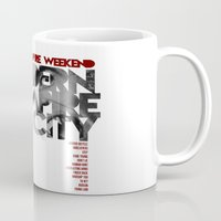 vampire weekend Mugs featuring Vampire Weekend - Modern Vampires of the City / Album Cover Art LP Poster  by FunnyFaceArt