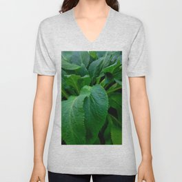 GREEN COMFREY LEAVES Unisex V-Neck