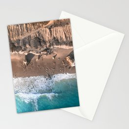 Aerial view of El Matador Beach in Malibu, CA Stationery Cards