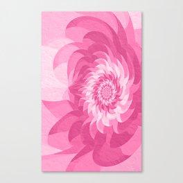 Fuchsia pink fractal flower Canvas Print
