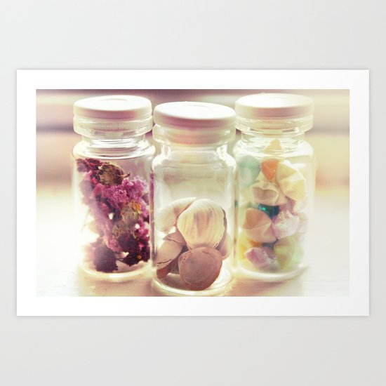 of stars, shells, and blossoms Art Print