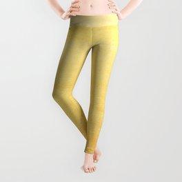 Yellow Watercolor Ombre Pattern Leggings