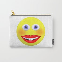 Smiley Female With Big Smiling Mouth Carry-All Pouch