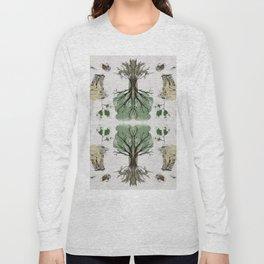 Tree Circle of Life Botanical Watercolor Long Sleeve T-shirt