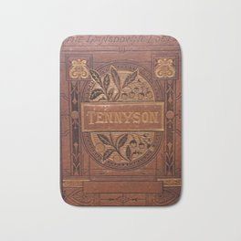 Antique Book Cover * Book Lover * Complete Works of Tennyson * 1800's  Brown Gold #Tennyson Bath Mat